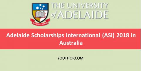 Adelaide Scholarships International (ASI) 2018 in Australia