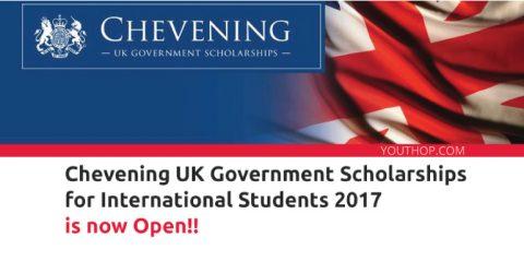 British Chevening Scholarship for International Student 2017, UK