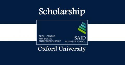 Skoll MBA Scholarships at Said Business School at Oxford University