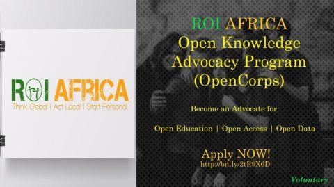 ROI Africa Open Knowledge Advocacy Program (OpenCorps)