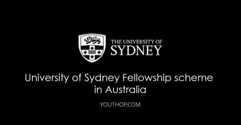 University of Sydney Fellowship scheme 2018