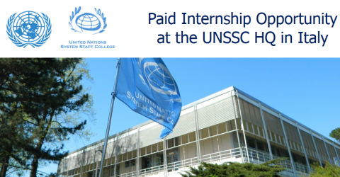 E-Learning Development Internship 2017 at UNSSC HQ in Italy