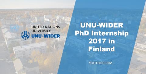 UNU-WIDER PhD Internship 2017 in Finland