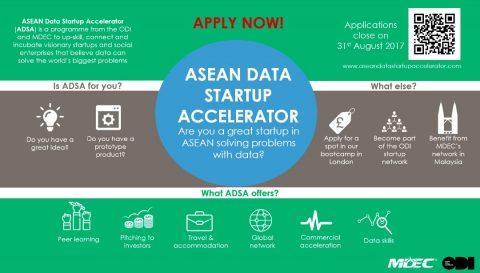 ASEAN Data Startup Accelerator 2017/18 in Malaysia