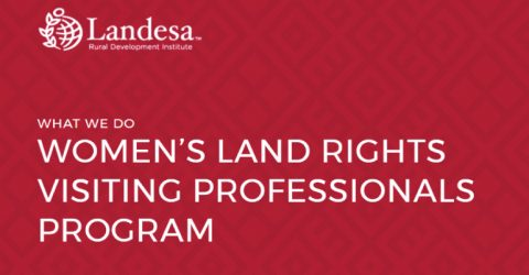 Women's Land Rights Visiting Professionals Program 2018 in Seattle, USA