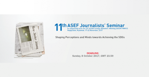 11th ASEF Journalists' Seminar 2017 in Myanmar