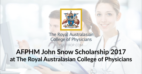 AFPHM John Snow Scholarship 2017 at The Royal Australasian College of Physicians