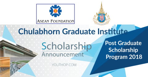 Chulabhorn Graduate Institute Post-Graduate Scholarship Program 2018