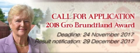 Gro Brundtland Award 2018 in Taiwan