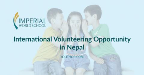 International Volunteering Opportunity in Nepal