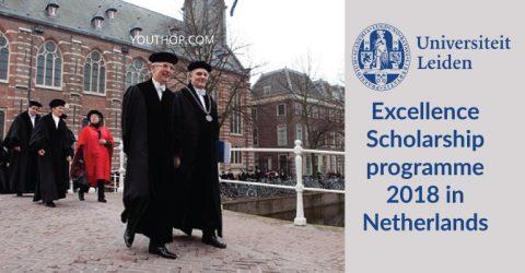 Leiden University Excellence Scholarship programme 2018 in Netherlands