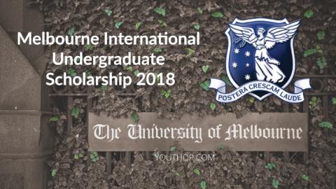 Melbourne International Undergraduate Scholarship 2018 in Australia