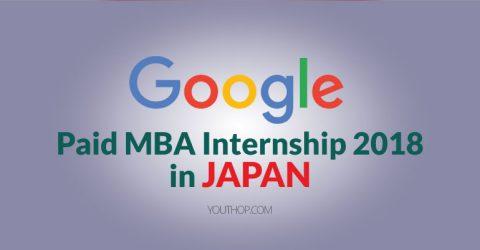 Paid MBA Internship 2018 at Google in Japan