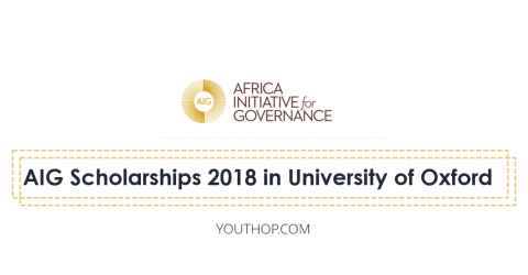 AIG Scholarships 2018 in University of Oxford