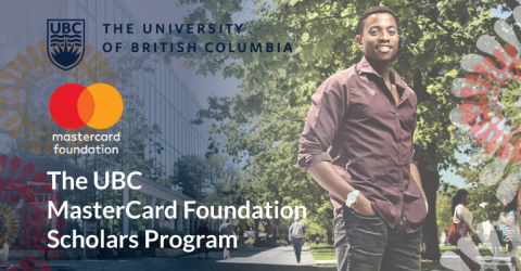 The UBC MasterCard Foundation Scholars Program 2018 in CANADA