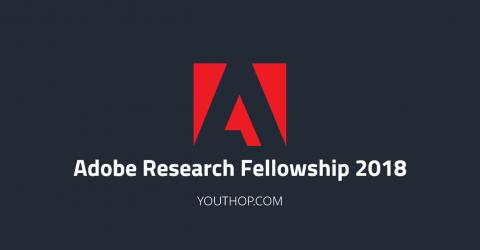 Adobe Research Fellowship 2018