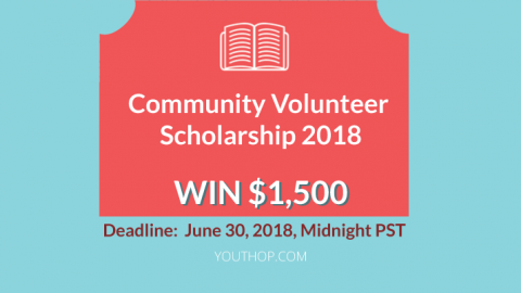 Community Volunteer Scholarship 2018