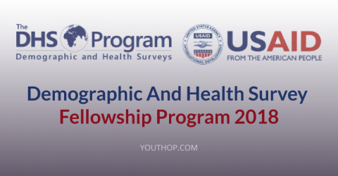 Demographic And Health Survey Fellowship Program 2018