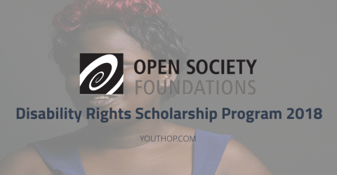 Disability Rights Scholarship Program 2018