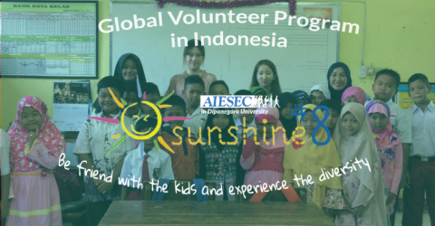 Sunshine 8 Project in Indonesia by AIESEC UNDIP