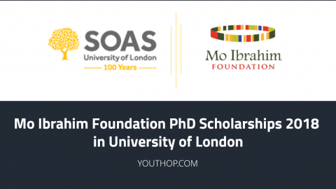 Mo Ibrahim Foundation PhD Scholarships 2018 in University of London
