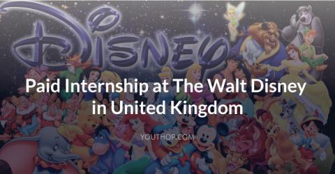 Paid Internship at The Walt Disney in UK