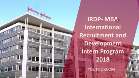 IRDP-MBA International Recruitment and Development Intern Program 2018