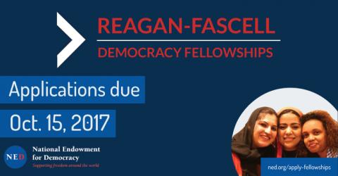 Reagan-Fascell Democracy Fellowship 2018-2019