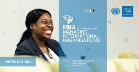 UNSSC MBA stream in Managing International Organisations 2017