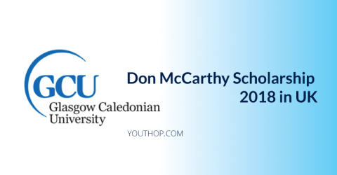 Don McCarthy Scholarship 2018 at Glasgow Caledonian University in UK