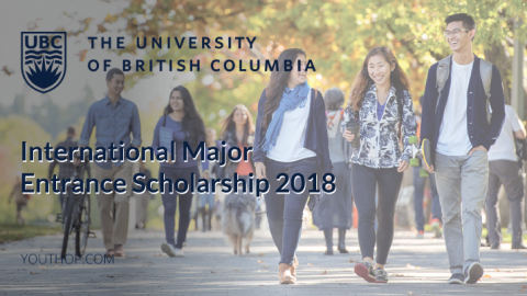 International Major Entrance Scholarship 2018 in University of British Columbia