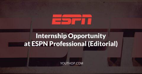 ESPN Professional Internship (Editorial) in UK