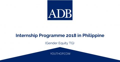ADB Internship Programme 2018 in Philippines (Gender Equity TG)