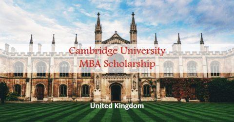 Cambridge University MBA Scholarship in UK