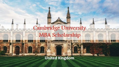 Cambridge University MBA Scholarship in UK