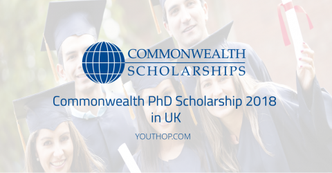 Fully Funded Commonwealth PhD Scholarship 2018 in UK