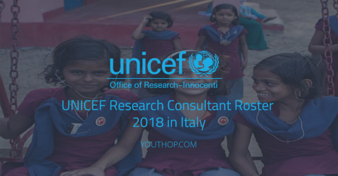 UNICEF Research Consultant Roster 2018 in Italy