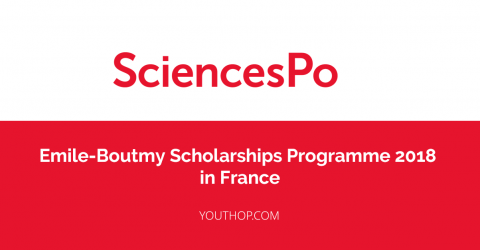 Emile-Boutmy Scholarships Programme at Sciences Po 2018 in France