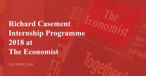 Richard Casement Internship Programme 2018 at The Economist
