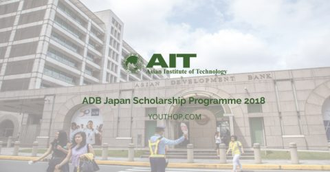ADB-Japan Scholarship Programme 2018 at AIT, Thailand