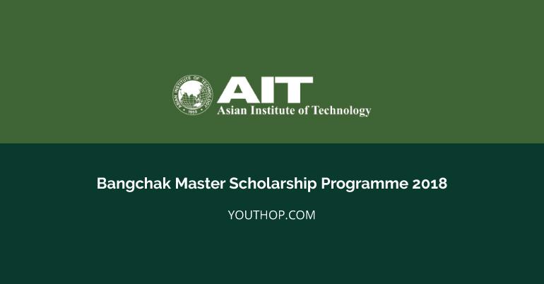 Bangchak Master Scholarship Programme 2018 at AIT, Thailand