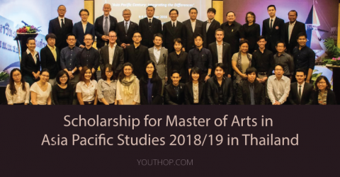 Scholarship for Master of Arts in Asia Pacific Studies 2018/19 in Thailand