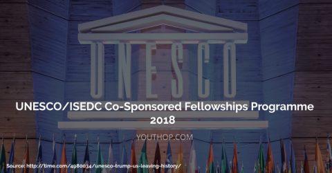 UNESCO/ISEDC Co-Sponsored Fellowships Programme 2018 in Russia