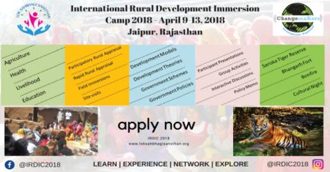 International Rural Development Immersion Camp- IRDIC 2018 in India
