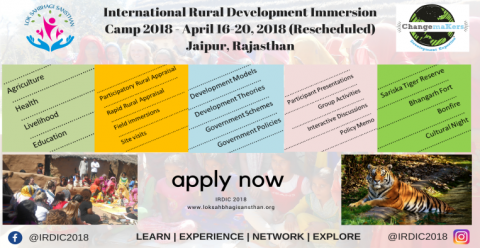 International Rural Development Immersion Camp- IRDIC 2018 in India