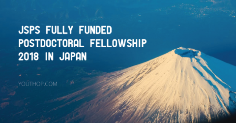 Japan Society for the Promotion of Science (JSPS) Fully Funded Postdoctoral Fellowship 2018
