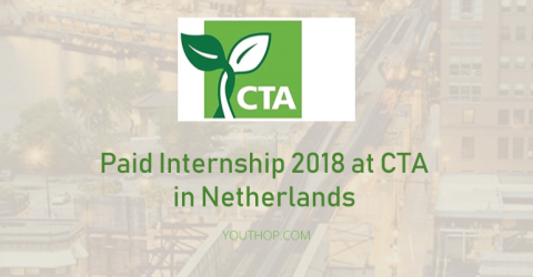 Paid Internship 2018 at CTA (Administrative & Communications Support) in Netherlands