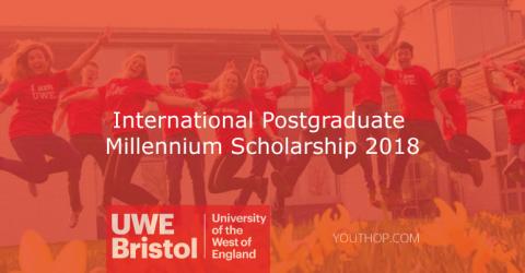 UWE Bristol International Postgraduate Millennium Scholarship 2018