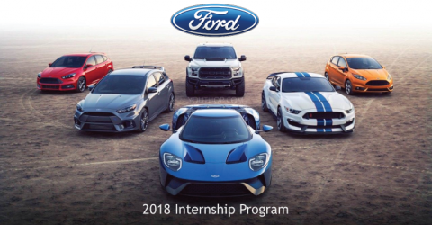 2018 Ford Internship Program in USA