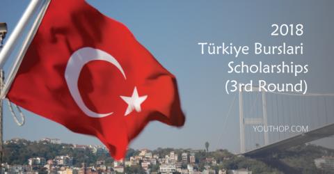2018 Türkiye Burslari Scholarships (3rd Round)